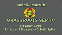 Grassroots Septic: site survey, design, installation and maintenance of septic systems
